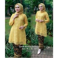 kebaya modern set brukat Namira warna yellow