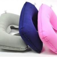 Travel Pillow/Bantal Angin/Tiup/Bantal Leher Mobil Murah