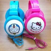 Headphone Bando Karakter Doraemon Hello Kitty Headset Anak Handsfree
