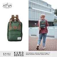 Tas Ransel Mini Wanita Cewek Daily Backpack Atva Kubo Olive