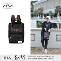 Tas Ransel Mini Wanita Cewek Daily Backpack Atva Kubo Black