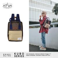 Tas Ransel Mini Wanita Cewek Daily Backpack Atva Kubo Brown Khaki