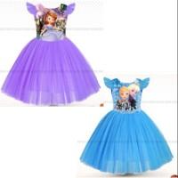 Baju pesta anak frozen Princess sofia
