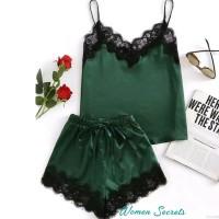 Set Piyama Lace / Piyama wanita import baju tidur nyaman sexy lace