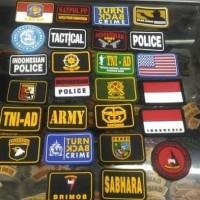 Patch Logo Tactical/Emblem Baju/Logo Topi Velcro/Patch Emblem Tactical