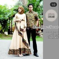 couple gamis best seller batik couple modern baju pesta