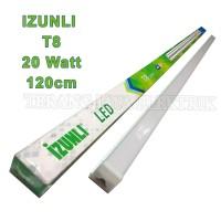 Lampu TL T8 LED 20 Watt Putih-Panjang 120cm IZUNLI IZL-T820(Set) SNI