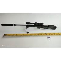 Replika Senjata Miniatur Mainan Pajangan Koleksi PUBG 30cm AWM Metal