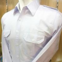 baju kemeja pria pdh putih atasan saja lengan panjang