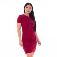 CDR102 | Beverly String Dress Gaun Bodycon Short Sleeve