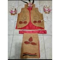 Baju adat papua dayak anak dewasa karnaval kartinian tarian kayu satin