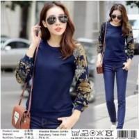 xl jumbo bigsize sweater jaket atasan outer blouse batik wanita