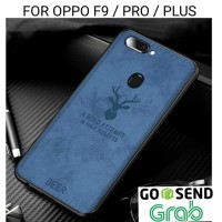 Case Oppo F9 Pro Plus softcase casing hp back cover leather tpu DEER