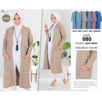 Cardigan Panjang 080 Outer Corak Elegan fit S - XL