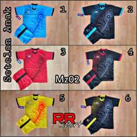 baju olahraga setelan futsal jersey bola anak usia SD mz 02