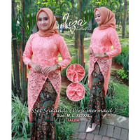 Stelan Kebaya Srikandi Brokat Mermaid Warna Salem