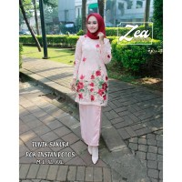 Kebaya Brokat Tunik (Sakura) Set Warna Salem