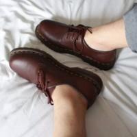 Sepatu Shoes Docmart Dr Martens 1461 Brown Kulit Asli
