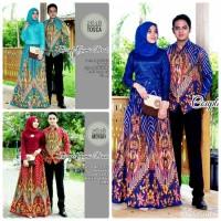 gamis couple bati ,batik brukat ,baju couple