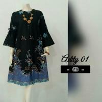 Tunik Batik Jumbo/Dress batik/ Baju Batik Wanita/Baju Kantor TN - 725