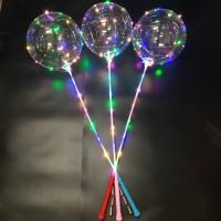 BALON LED TUMBLER LAMPU / BOBO BALLOON TANPA BATERAI / Balon PVC Trans