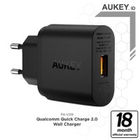 Aukey PA-U28 USB Wall Charger with Quick Charge 2.0 - Hitam [18W]