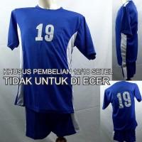 Setelan Baju/Kaos Sepak Bola/Futsal Team/Tim Anak Biru