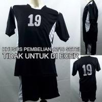 Setelan Baju/Kaos Sepak Bola/Futsal Team/Tim Anak Hitam