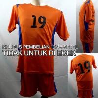 Setelan Baju/Kaos Sepak Bola/Futsal Team/Tim Anak Oranye 2