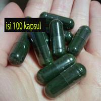 100 kapsul Masker Spirulina Jaminan Asli 100% Kualitas Import
