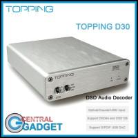 TOPPING D30 Audio Decoder USB DAC Optical Fiber XMOS 24Bit Amplifier