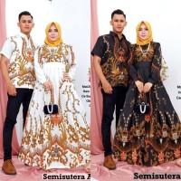 Couple Batik Gamis Semisutera Azzura Baju Couple Gamis Batik Semisutra