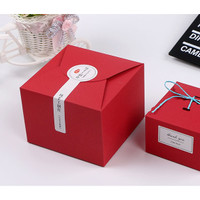 box red merah kotak 12x12 gift box packaging kantong