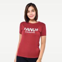 SEYES S5925 T-Shirt Kaos Spandek Premium Baju Atasan Wanita Maroon - Merah