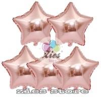 balon foil bintang / balon foil star Rose gold 40cm