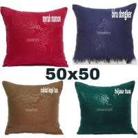 sarung bantal embos sofa/kursi 50 x 50