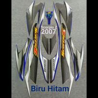 lis body/ striping / stiker yamaha scorpio z 2007 biru hitam
