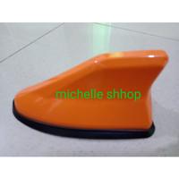 antena sirip hiu hybird JS RACING polos orange mobil calya /sigra