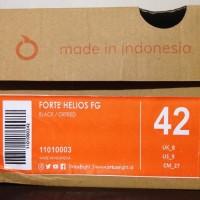 NEW Sepatu Bola OrtusEight Forte Helios FG Black Ortred 11010003 Orig