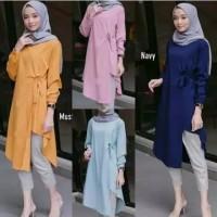 baju atasan tunik muslimah/lidya tunik jumbo/baju atasan wanita modern