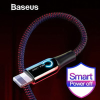 KABEL DATA IPHONE BASEUS AUTOMATIC POWER-OFF FAST CHARGING 2.4A - Mera