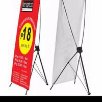 kaki Y Banner 60 x 160 Hitam Display promosi iklan Standing spanduk