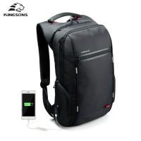 Kingsons Tas Laptop 15.6 Inch Anti - Theft Waterproof Backpack