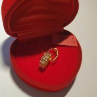 Anting josean model klep elegant emas asli
