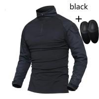 combat shirt Black import include kneepad -baju kaos tactical bdu