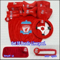 Bantal Mobil 10 in 1 Bordir LIVERPOOL The Reds