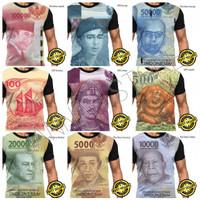 Kaos Baju Gambar Duit Mata Uang Indonesia Fullprint