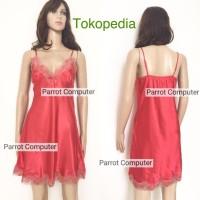 Daster Satin Asuka Wanita Dress Baju Tidur Cewek Murah Cantik Lace