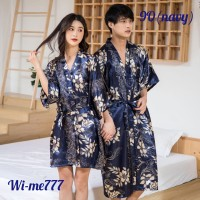 Nama produk : baju tidur / kimono couple Flower pasangan satin - 9O,9P