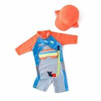 Baju renang diving topi bayi balita anak laki shark kacamata